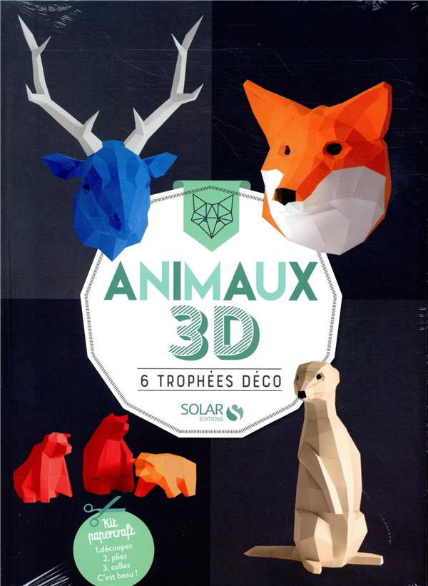 ANIMAUX 3D - 6 TROPHEES DECO